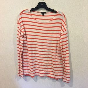 J. Crew red and white striped long sleeve top